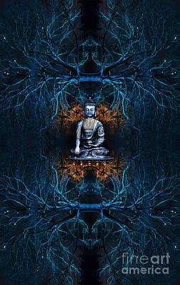 Mandala Photograph -  Budu Saranai by Tim Gainey