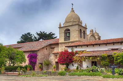 Facade Of The Chapel Mission San Carlos Borromeo De Carmelo Art Print by Ken Wolter