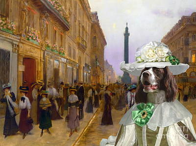 Painting -  French Spaniel - Epagneul Francais Art Canvas Print by Sandra Sij