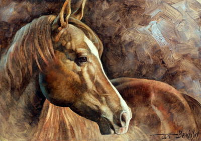 Wall Art - Painting -  Horse Head 3 by Arthur Braginsky