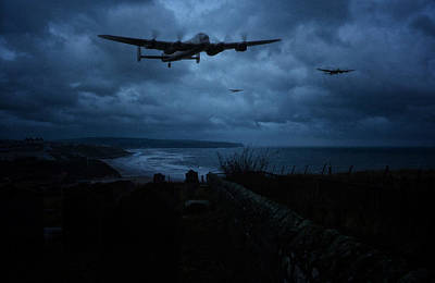 Bomber Command Photograph -  Lancaster Bombers by Jason Green