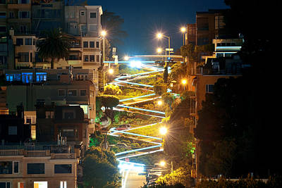 Photograph -  Lombard Street by Songquan Deng