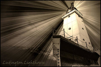 Ludington  Light House Michigan Art Print