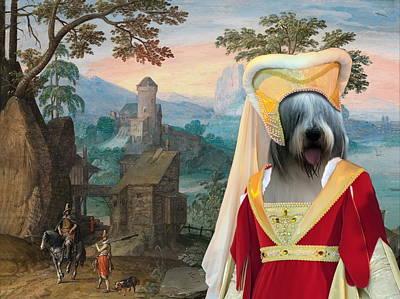 Painting -  Romanian Mioritic Shepherd Dog - Ciobanesc Mioritic Art Canvas Print  by Sandra Sij