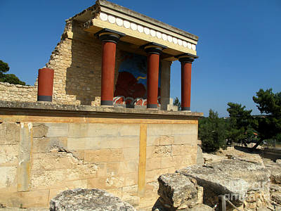 Greek Photograph -  Temple At The Palace Of Knossos by Cimorene Photography