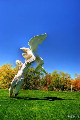 Mans Best Friend - 002 Sculpture In Forest Lawn Cemetery by Michael Frank Jr