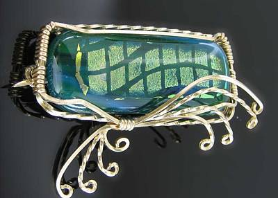 14k Jewelry - 0590 Dancing Wave by Dianne Brooks