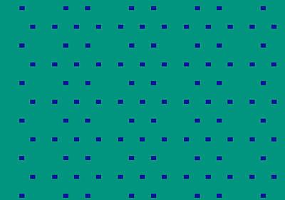 Blueish Digital Art - 3-095 by Yoko Nakai