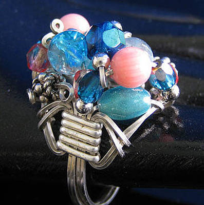 Jewelry - 1168 Bling Bling Cluster Ring by Dianne Brooks