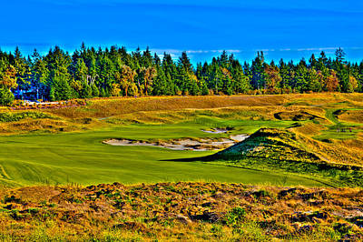 Us Open Photograph - #13 At Chambers Bay Golf Course - Location Of The 2015 U.s. Open Tournament by David Patterson