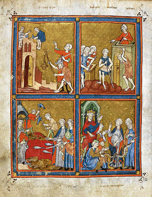 Slaves Photograph - 14th Century Religious Manuscript by British Library