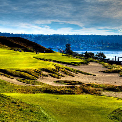 Us Open Photograph - #16 At Chambers Bay Golf Course - Location Of The 2015 U.s. Open Tournament by David Patterson