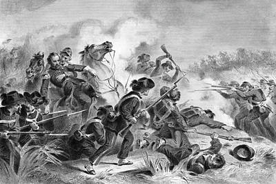 Sadness Painting - 1860s August 1861 Battle Of Wilsons by Vintage Images