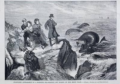 1871 Kilkee Irish Sea Monster Serpent Art Print