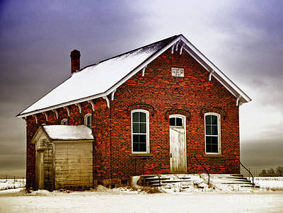 Art Print featuring the photograph 1890 School House by JRP Photography