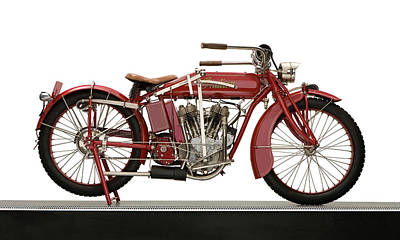 1917 Photograph - 1917 Indian 7hp Powerplus Motorcycle by Panoramic Images