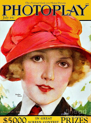 Drawing - 1920s Usa Photoplay Magazine Cover by The Advertising Archives