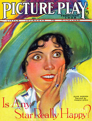 Surprise Drawing - 1920s Usa Picture Play Magazine Cover by The Advertising Archives