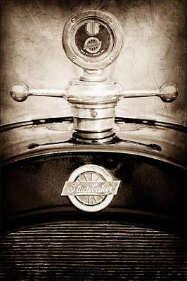 1922 Studebaker Touring Hood Ornament Art Print by Jill Reger