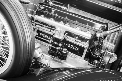 Photograph - 1924 Hispano-suiza H6b Dual  Cowl Sport Phaeton Engine Emblem by Jill Reger
