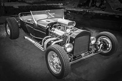 1925 Ford Model T Hot Rod Bw Art Print