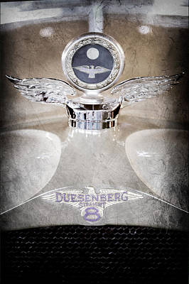 Photograph - 1926 Duesenberg Model A Boyce Motometer - Hood Ornament by Jill Reger