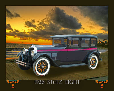 Of In A Frame Photograph - 1926 Stutz Eight Sedan by Jack Pumphrey