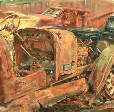 Dump Truck Painting - 1927 Custom International by Sharon Jordan Bahosh