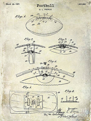1927 Football Patent Drawing  Art Print