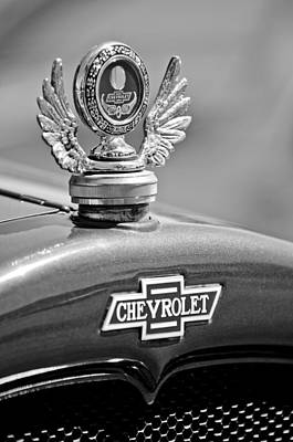 1928 Chevrolet Stake Bed Pickup Hood Ornament Art Print by Jill Reger