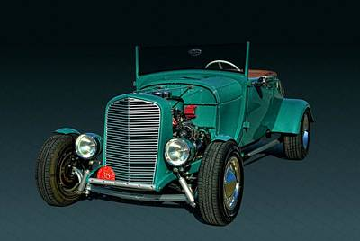 Photograph - 1928 Ford Roadster Hot Rod by Tim McCullough