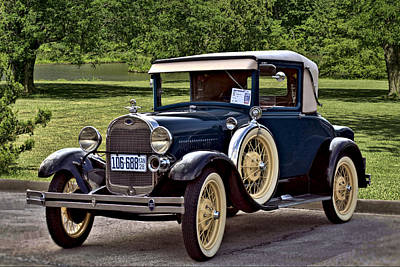 Photograph - 1928  Model A Ford Sport Coupe by Tim McCullough
