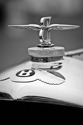 Photograph - 1929 Bentley Speed Six Gurney Nutting Fixed Head Coupe Hood Ornament by Jill Reger