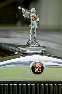 Herald Photograph - 1929 Cadillac 1183 Dual Cowl Phaeton Hood Ornament by Jill Reger