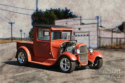 Injections Digital Art - 1929 Ford Model A Pickup by Dave Koontz
