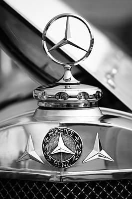 Photograph - 1929 Mercedes-benz Ss Barker Roadster Hood Ornament - Emblem by Jill Reger
