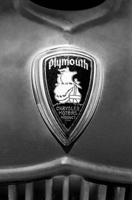 Photograph - 1930 Chrysler Plymouth Emblem by Jill Reger