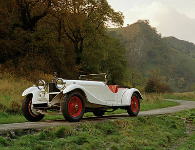 Historic Car Photograph - 1930 Mercedes Benz 38250ss Supercharged by Panoramic Images