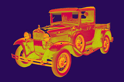 1930 Model A Ford Pickup Truck Pop Art Art Print by Keith Webber Jr