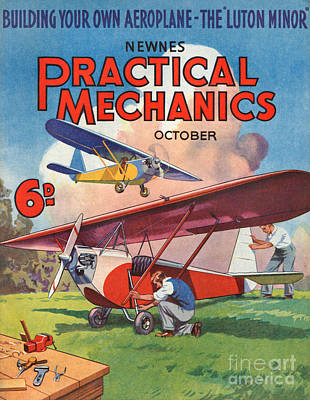 Mechanics Drawing - 1930s Uk Practical Mechanics Magazine by The Advertising Archives