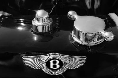 Photograph - 1931 Bentley 4.5 Liter Supercharged Le Mans Rear Emblem by Jill Reger
