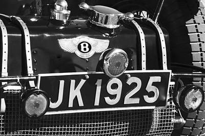Photograph - 1931 Bentley 4.5 Liter Supercharged Le Mans Taillight Emblem by Jill Reger