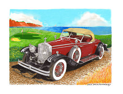 Black By Playing Painting -  Rolls Royce Henley Roadster by Jack Pumphrey