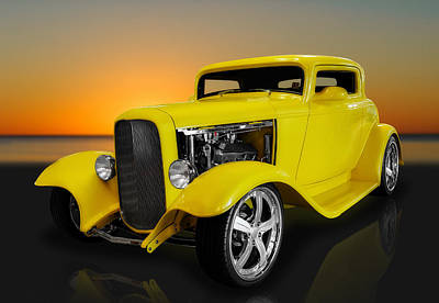 Photograph - 1932 Ford 3 Window Coupe by Frank J Benz