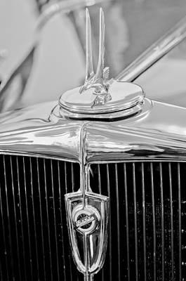 Photograph - 1932 Studebaker Dictator Custom Coupe Hood Ornament - Emblem by Jill Reger