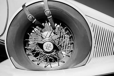 Photograph - 1933 Auburn 12-161a Custom Speedster Spare Tire Emblem by Jill Reger