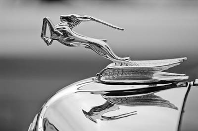 Photograph - 1933 Chrysler Cl Imperial Custom Dual Windshield Phaeton Hood Ornament by Jill Reger