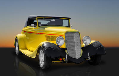 Photograph - 1933 Ford Cabriolet by Frank J Benz