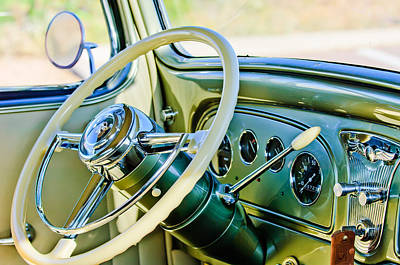 1933 Pontiac Photograph - 1933 Pontiac Steering Wheel -0463c by Jill Reger