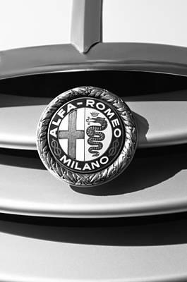 Photograph - 1934 Alfa Romeo 8c Zagato Emblem by Jill Reger